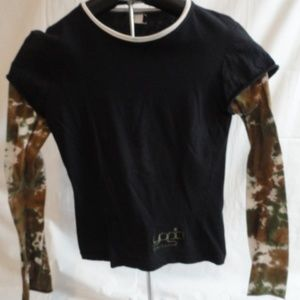 Womens Yoga Shelter Long Sleeve Shirt Camouflage S